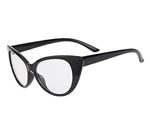 (Frame-Schwarz Transparent Lens) Sonnenbrille Frau Modell Cat Katzenauge