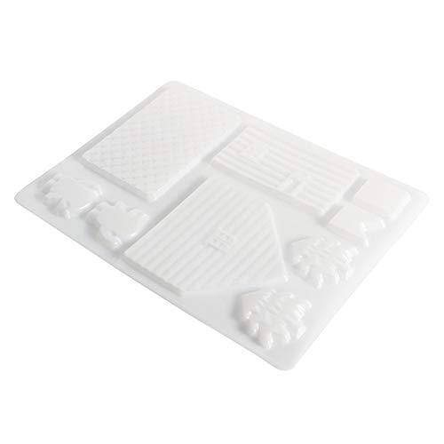 elly Backen Weihnachten Schokolade Form Lebkuchenhaus Kuchen Form Werkzeug weiß ()