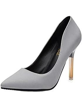 Gaorui scarpe donna sabot decoltè punta tacco alto spillo sera scamosciate shoes