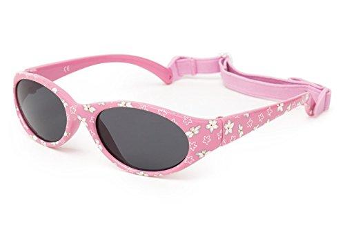 Kiddus Sonnenbrille Kids Comfort Junge und Mädchen. Alter 2 bis 6 Jahre. Total Flexible Modell für Extra Komfort. Mit Band und sehr Resistent. 100% UV-Schutz. Nützliches Geschenk (KI30401)