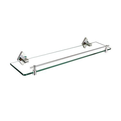 XSJZ Badezimmer-Glasregal, Einschichtiger An Der Wand Befestigter Kupferner Spiegel-Frontrahmen für Badezimmer-Kosmetik-Gestell-Hygiene-Speicher-Gestell Badezimmerregal (Size : 40cm)