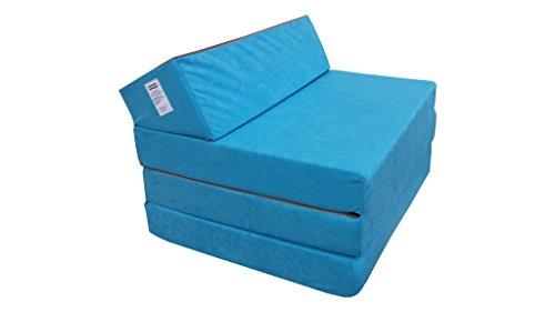 Natalia Spzoo Colchón Plegable Cama de Invitados colchón de Espuma 200x70 cm FM Azul