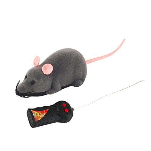 *ROSENICE Fernbedienung Ratte Plüschmaus Spielzeug für Katze Hund Kind (Grau) by ROSENICE*
