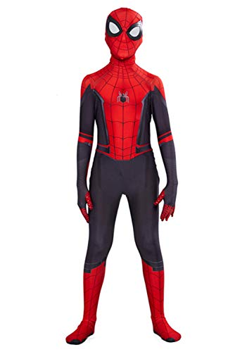 RedJade Superheld Spider-Man: Far from Home Jumpsuit Zentai Bodysuit Spider-Man Tights Cosplay Kostüm Kinder Jungen XXL (Spiderman Kostüm Stoff)