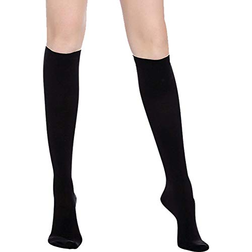 Kompressionsstrümpfe (20-30 mmHg) für Männer und Frauen - beste abgestufte Strümpfe für Laufen, Krankenschwestern, Athletik, Flugreisen und Schwangerschaft, Black(closed-toe), Large -