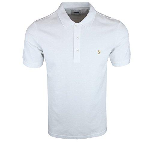Farah Herren Poloshirt Blaney, Rose, Einheitsgröße White 104