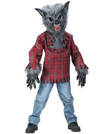 Fun World FW5813-L Large Kind Werwolf Kost-m (Handschuhe Werwolf Grau)