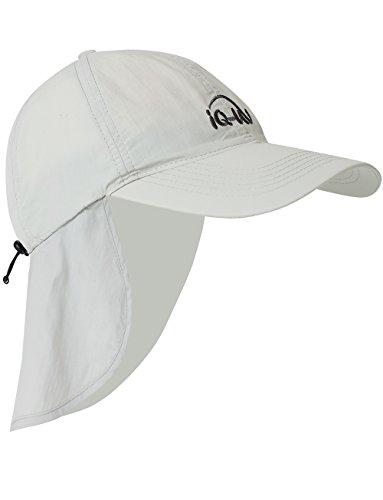 iQ-UV Erwachsene 200 Sonnenschutz Cap mit Nackenschutz Schutz Kappe, grau, 55-61cm
