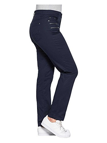 sheego Casual Damen Hose große Größen Marineblau