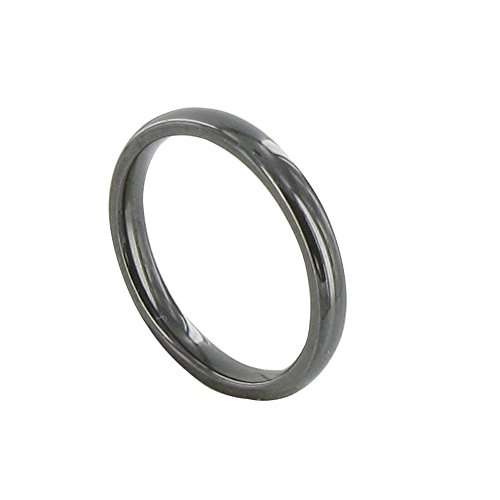 Les Poulettes Jewels - Black Ceramic 3mm Ring