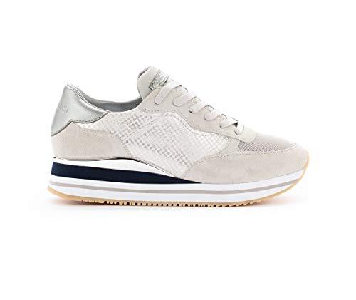 4770df3f76 Crime London 25502 - Sneaker Donna Modello Dynamic in Vera Pelle e camoscio  (37-30 Grey)