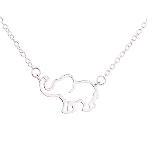Elefante Collar Stianless Acero Collares para el Collar de Cadena Pendiente de...