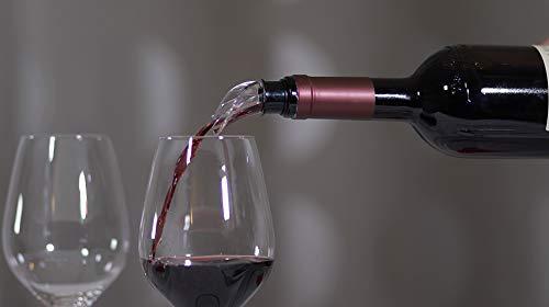 Matic_Milano SALVAGOCCIA Universale per Vino (1 PZ Nero) Eleganti versatori per Vino, con Stopper Salva freschezza