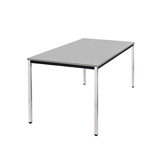 Pureday Konferenztisch Simple - Buchenholz - Grau