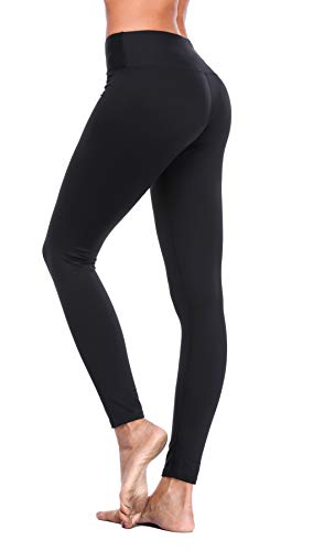 Solid Color-leggings (Eono Essentials-Frauen Solid Color Yoga Pants (schwarz, Medium))