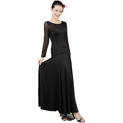 Nuovo vestito da ballo moderna garza a maniche lunghe grandi