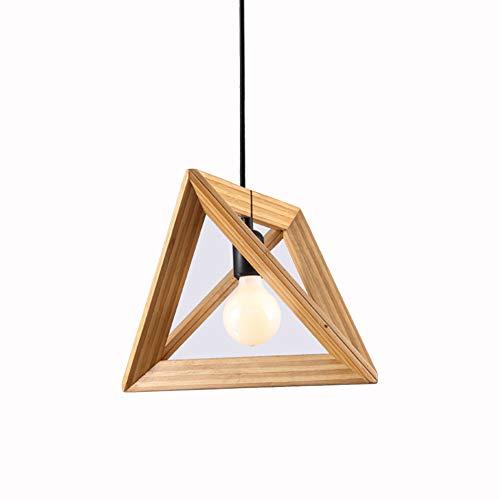 Pendelleuchte Modern Höhenverstellbar Hängelampe Aus Massivholz 1-Flammig E27 Innen Dekoration Deckenleuchte Holz farbe für Esstisch Wohnzimmer Arbeitszimmer