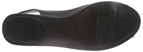 Zaxy - Gift Fem, Scarpe col tacco con cinturino a T Donna Nero (Schwarz (black 8313))