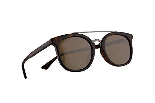 Gucci GG0403SA Sonnenbrille Havana Braun Mit Silbernen Gläsern 52mm 002 GG0403/SA 0403/SA GG 0403SA