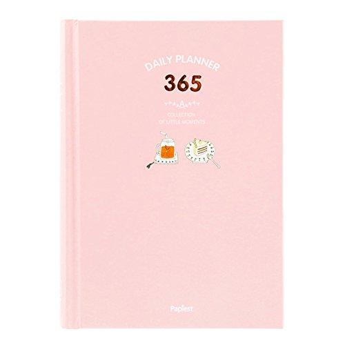 NectaRoy 365 Giorni giornaliero personale Settimanale Mensile Planner Calendario Organizzatore libro di appuntamento, 13x18cm Dimensioni Bound To-Do List Book - Daily Planner Fare Pad