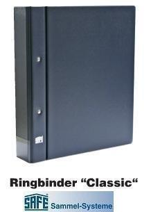 SAFE 480 RINGBINDER SAMMELALBUM Compact A4 Classic IN BLAU (LEER) ---- passend für das komplette SAFE Programm Compact A4 - Einsteckblätter - Spezialblätter - Clipfix - Blankoblätter - Blattschutzhüllen - Ergänzungsblätter - Hüllen