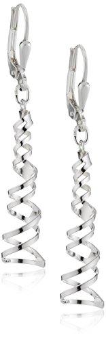Silberdream Damen-Ohrhänger Spirale 925 Sterling Silber SDO521