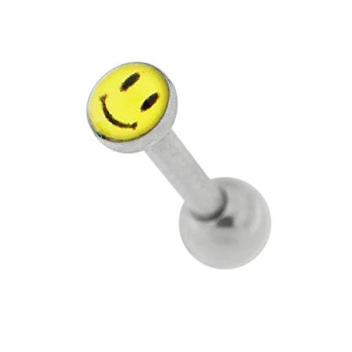 3MM Smiley Gesicht Logo Bild 16 Gauge 316L Chirurgenstahl Knorpel Helix Tragus Piercing Schmuck