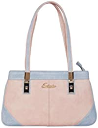 ESBEDA Light Pink & Light Blue Solid PU Synthetic Handbag For Women