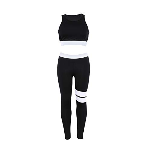 uirend Sport Leggins Damen Lang - Gymshark Yoga Leggings Sport-BH Crop Tops Hosen Training Laufende Jogging Fitness Outfits Sportswear BH Set 2 Teile/Satz (Yoga BH + Leggings) -