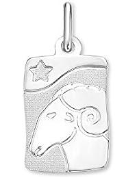 Amor Unisex-Anhänger Sternzeichen 925 Sterling Silber rhodiniert teilmattiert