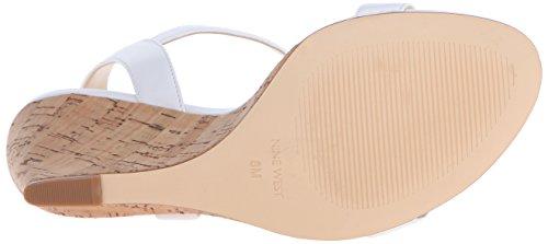 Nine West Kiani en cuir Wedge Sandal white