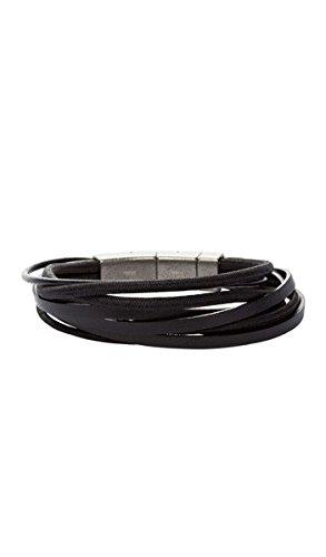FOSSIL Armband JF86182040 Leder schwarz