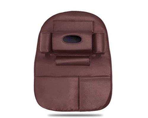 NUO-Z Autositz Rückenprotektor - Storage Protection Organizer Mit Mehreren Funktionen, Kinder Kick Matte Auto Auto Protector, Einfach Zu Installieren, Leicht Zu Reinigen,Brown -
