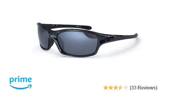 be1daf17df1d Bloc Eyewear Daytona Wrap Around Sports Sunglass - Shiny Black, 14 cm:  Amazon.co.uk: Sports & Outdoors