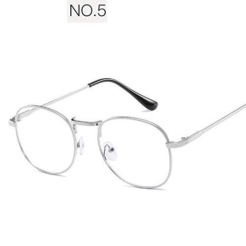 QYY Blue Light Blocking Glasses, Lightweight UV Protection Anti-Blaue Brille, Blue Film Metallbrille Nachtsicht gelben Film für Computer/Handy Lesen/Gaming,5