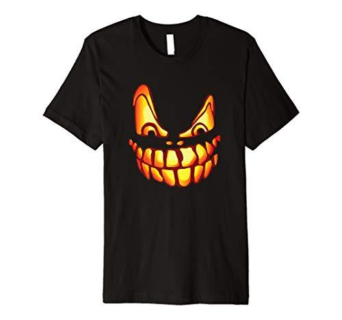 (Halloween Costume Pumpkin Scary Jack O' Lantern T-shirt)