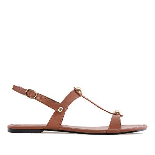 Andres Machado - AM5167 - Sandalen aus Soft in Blau AM5167 Braun