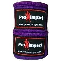 """Pro impacto/boxeo Handwraps 180""""Mexican estilo elástico 1par morado, Púrpura"""