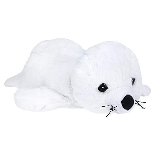 (Warmies Wärmetier Robbe weiß groß mit Lavendel-Hirsefüllung)