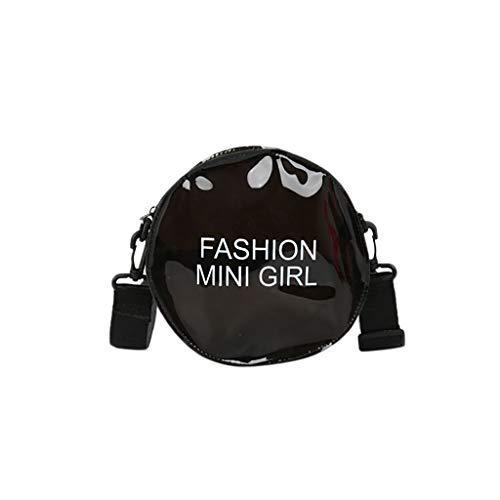 Damen Handtasche, Frauen PU Schultertasche Runde Umhängetasche für Frauen Kreis Abendtasche Clutch von Cent ☆Elecenty☆ Wild Schulter Messenger Bags - Patent-leder-wildleder-clutch