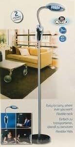 lampe sans fil liseuse lampadaire sur pied 16 leds tete flexible orientable