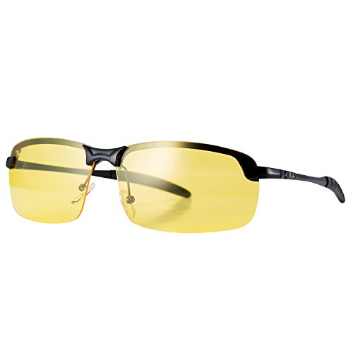 Pro Acme Night Vision Driving Glasses Goggles with Yellow Polarized Anti-glare Lens