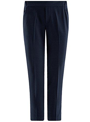 oodji Ultra Damen Eng Zulaufende Hose mit Elastischem Bund Blau (7900N)