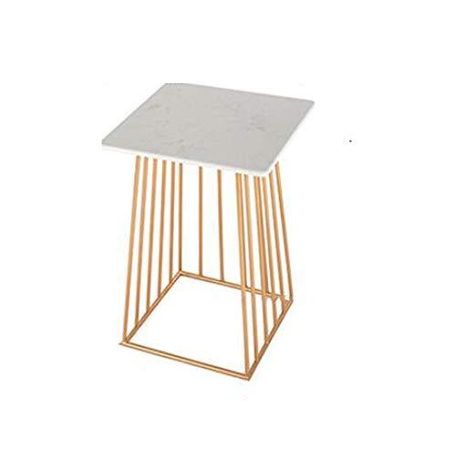 YNN Tisch Kaffee Tee Tisch Platz Marmor Top Metallrahmen Lagerregal Schwarz Gold 2 Größen (Farbe : Gold, größe : 2 Tier) -