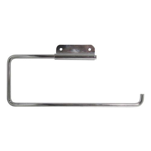 InterDesign Basic Küchenrollenhalter | Wandrollenhalter für 1 Rolle Küchenkrepp | schwenkbarer Papierrollenhalter | Metall silber