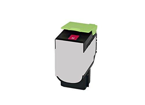 Preisvergleich Produktbild Rebuilt Toner für Lexmark CX 310 410 510 DE DHE DTE DTHE DN E N, magenta, 2.000 Seiten, ersetzt 80C2SM0