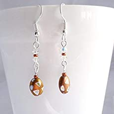 Fun Metallic Spotty Dangle Earrings