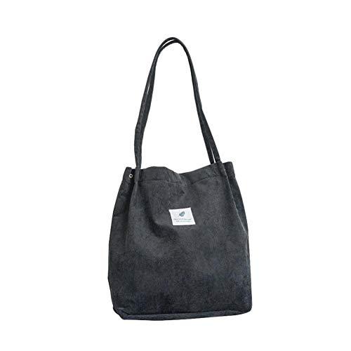 Depruies Cord Allgleiches Crossbody Taschen Casual Handtaschen Leinwand Feste Umhängetasche Einkaufstasche für Frauen Mädchen (Tasche Leinwand Casual)
