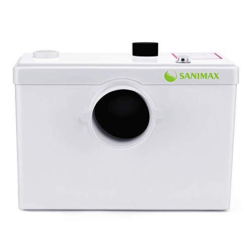 Sanimax SANI600 Hebeanlage Abwasser Haushaltspumpe Fäkalienpumpe für WC, Dusche, Waschbecken 600W Kraftvoll