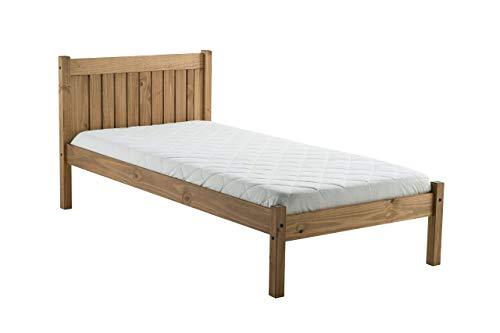 Birlea Rio 3ft Single Wooden Bed, Waxed Pine